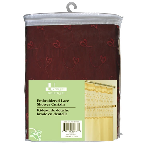 Embroidered Lace Shower Curtain 70 X 72