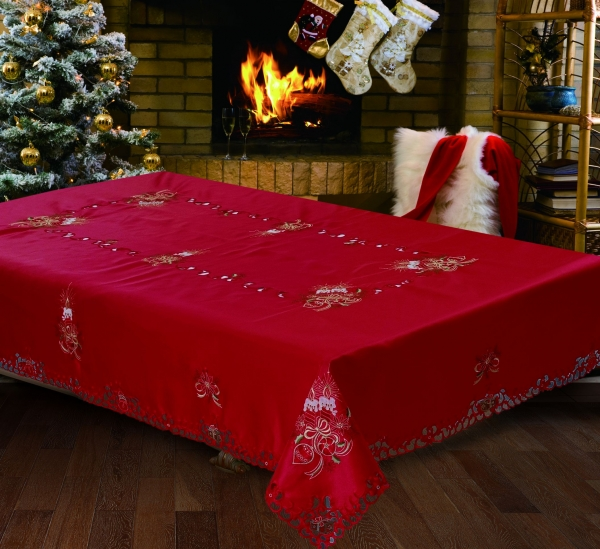EMBROIDERED HOLIDAY TABLECLOTH (call For Availability)