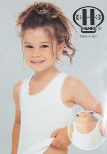 Henri  Girls Sleeveless Undershirt (#170)