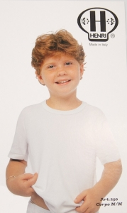 Henri  Boys Half Sleeve Undershirt (#250)
