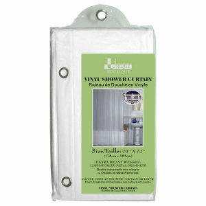 Heavy Weight Vinyl Shower Curtain Liner With 12 Reinforced Metal Grommets 70 X 72