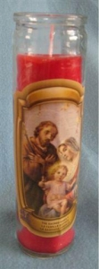 Religious Candle C002 Sacred Family